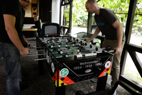 Tischkicker mit Spielern