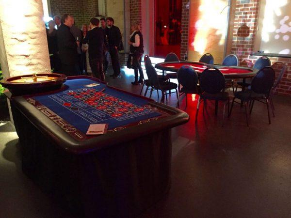 Mitarbeiterfeier mit mobilem Casino
